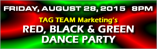 Red, Black and Green Dance Party