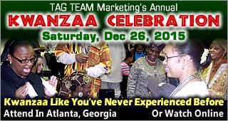 TAG TEAM Annual Kwanzaa Celebration