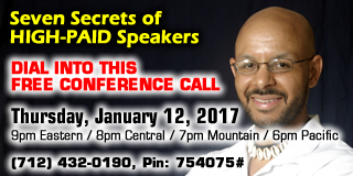 CONF CALL: 7 Secrets of HIGH-PAID Speakers