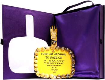 A Smart Positive Blessed Flyer Young Lady - Afrocentric Hand Mirror